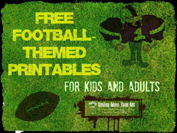 Free football-themed printables for kids and adults--savingmorethanme.com