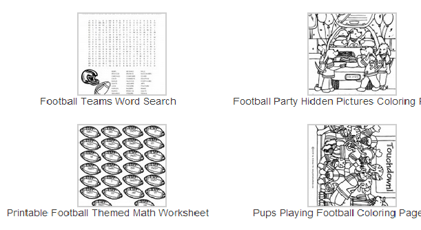 Free Football Themed Printables For Children And Adults