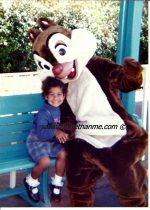 {Wordless Wednesday} @WaltDisneyWorld Visit In 1994 {My Daughter Adored This Chipmunk}
