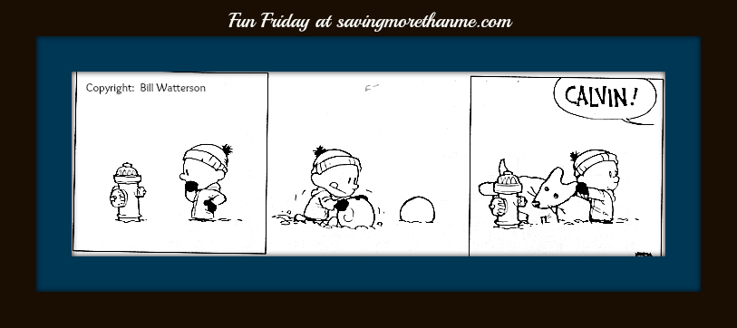 calvin and hobbes and snow