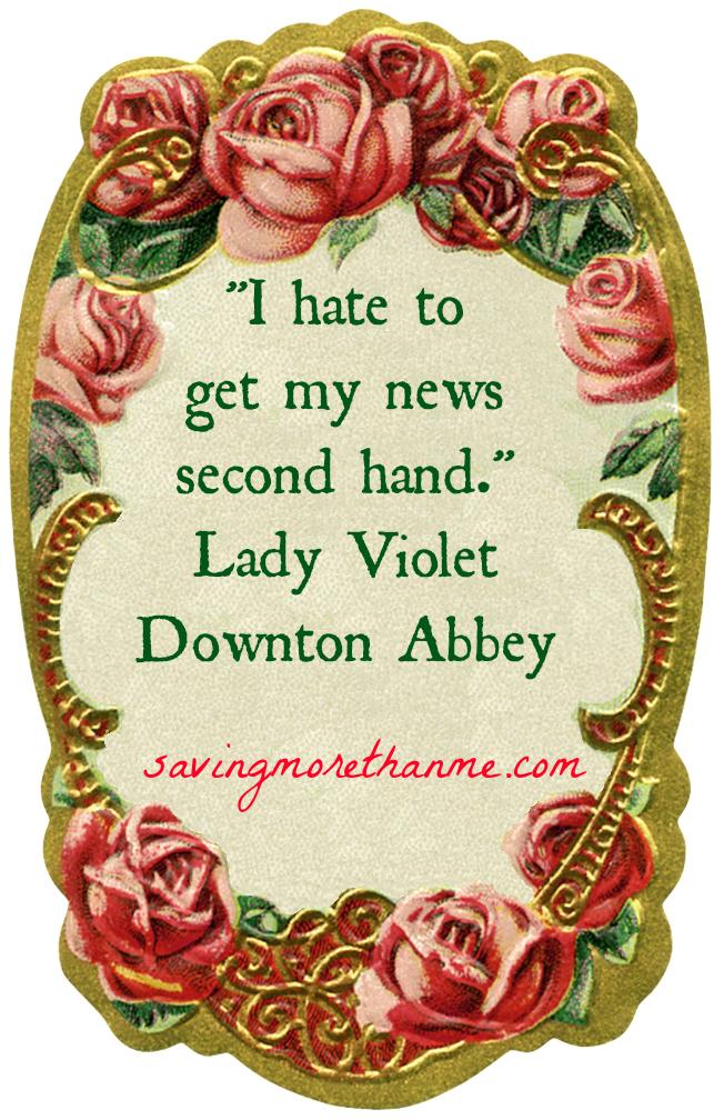 Lady Violet #downtonabbey