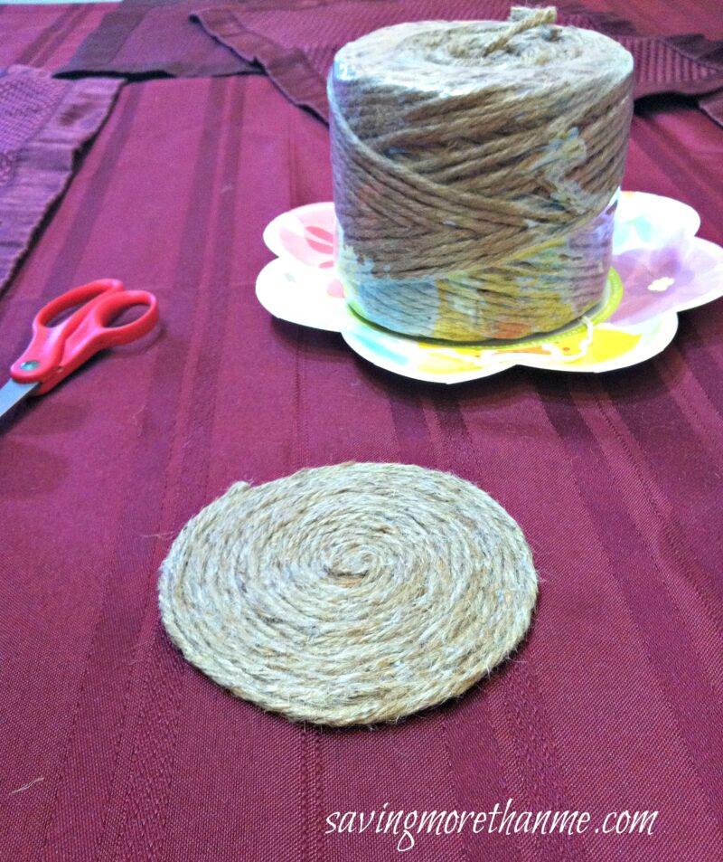 DIY Nautical-Themed Rope Coasters #crafts savingmorethanme.com