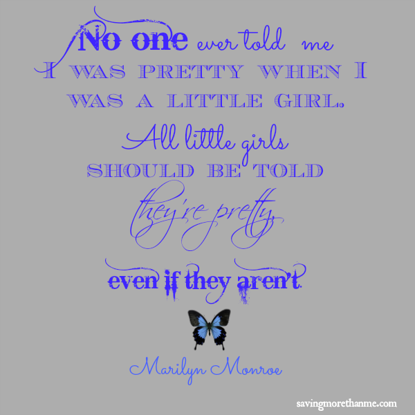 """marilyn monroe """"tell girls they're pretty"""" quote free printable"""