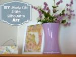 DIY Shabby Chic State Silhouette Art #shabbychic #crafts