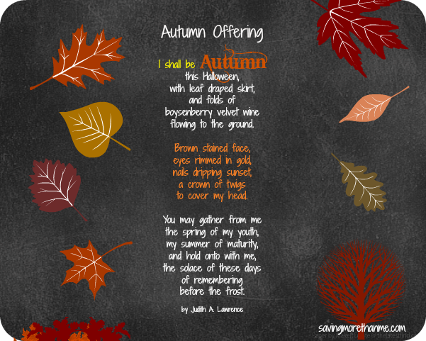 autumn offering free printables