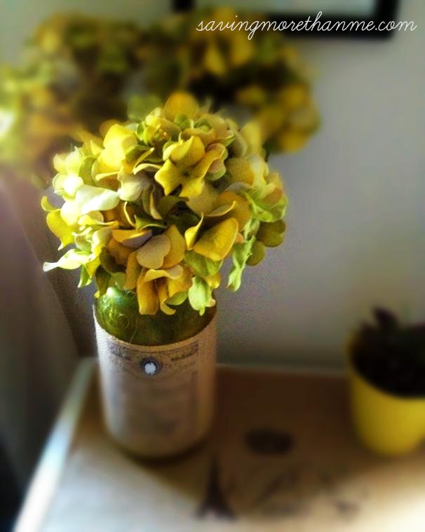 flowers on table redo