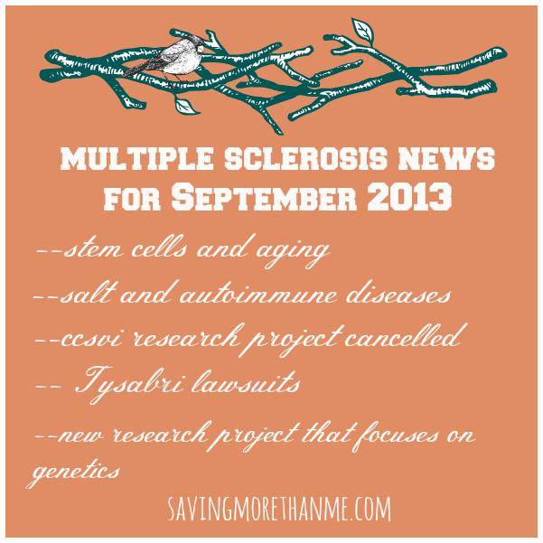 multiple sclerosis news for september 2013