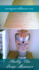 Shabby Chic Lamp Makeover Using Sisal, Burlap, and Paint #diy #crafts