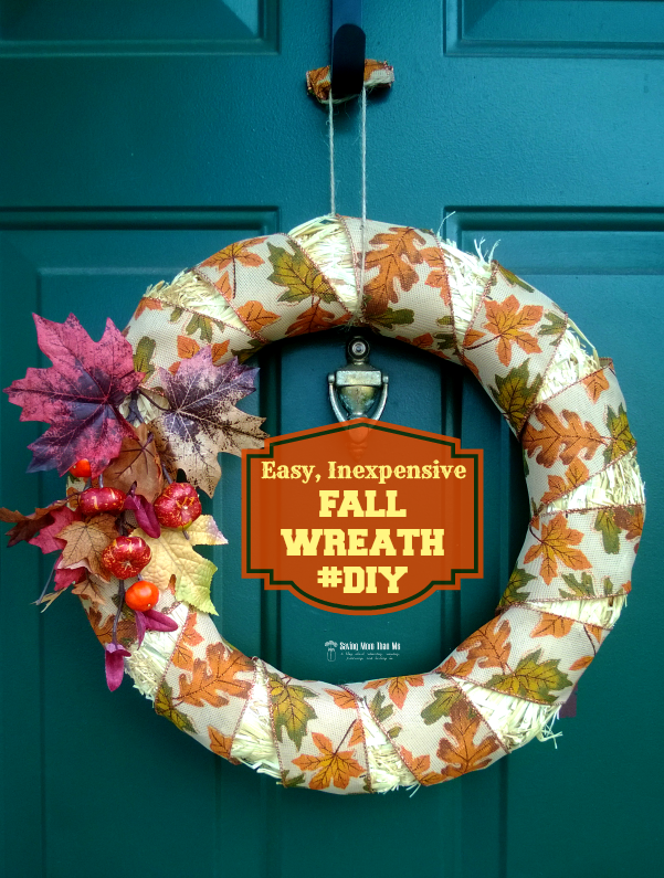 fall wreath---easy and inexpensive #diy #crafts #fall