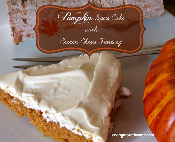 pumpkin spice cake with cream cheese frosting #pumpkin #fallinva
