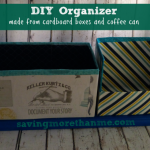DIY Table Organizer: Upcycle Household Items #diy #crafts