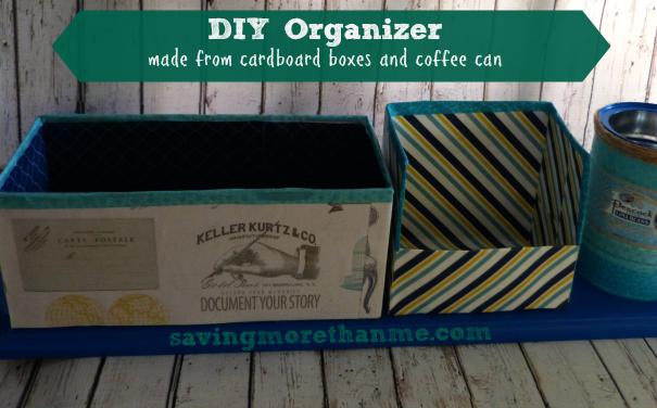 DIY Organizer savingmorethanme.com #diy #crafts