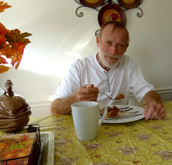 Dad Loves the pie! Pumpkin meets marshmallow pie. savingmorethanme.com #shop