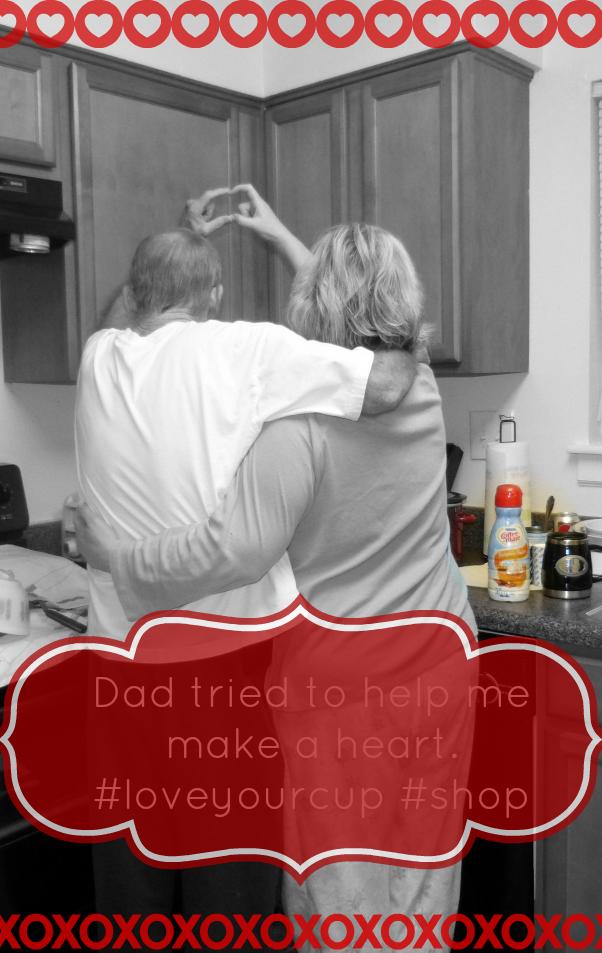 Hugs with dad. savingmorethanme.com #loveyourcup #shop