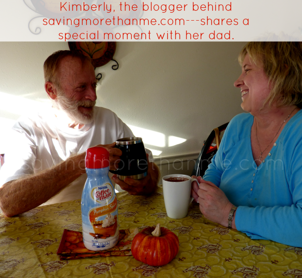 Kimberly of savingmorethanme.com shares a special moment with her dad. #loveyourcup #shop