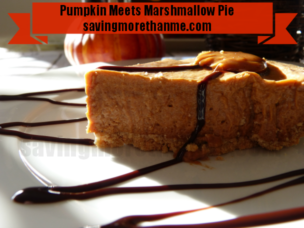 Pumpkin Meets Marshmallow Pie #recipes #pumpkin savingmorethanme.com #shop