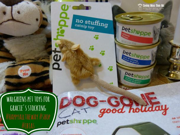 Walgreens Pet Toys For Gracie's Stocking #HappyAllTheWay #shop #cbias