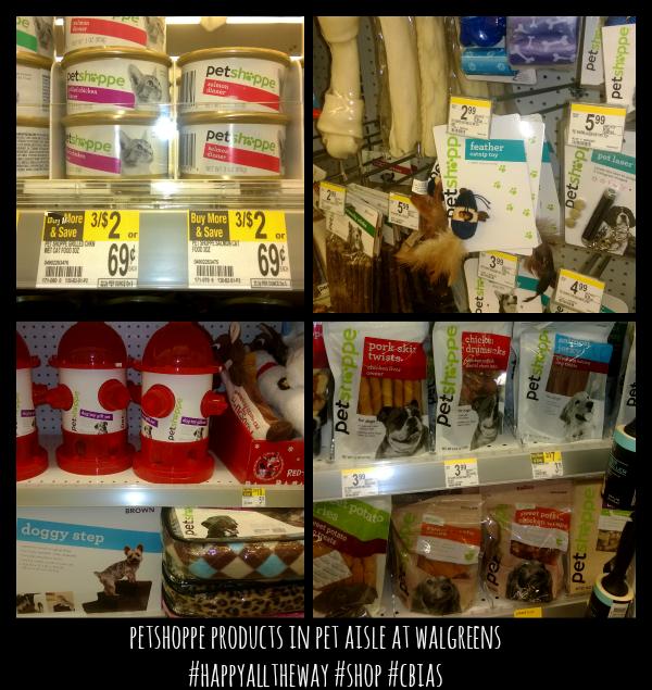 petshoppe products in pet aisle at walgreens #HappyAllTheWay #shop #cbias