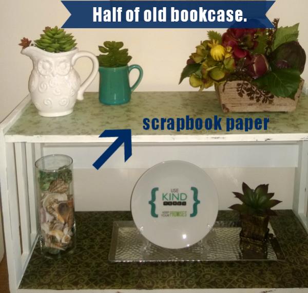 Bookcase upcycle savingmorethanme.com