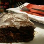 Devil's Food Cherry Coffee Cake with Glaze #recipes