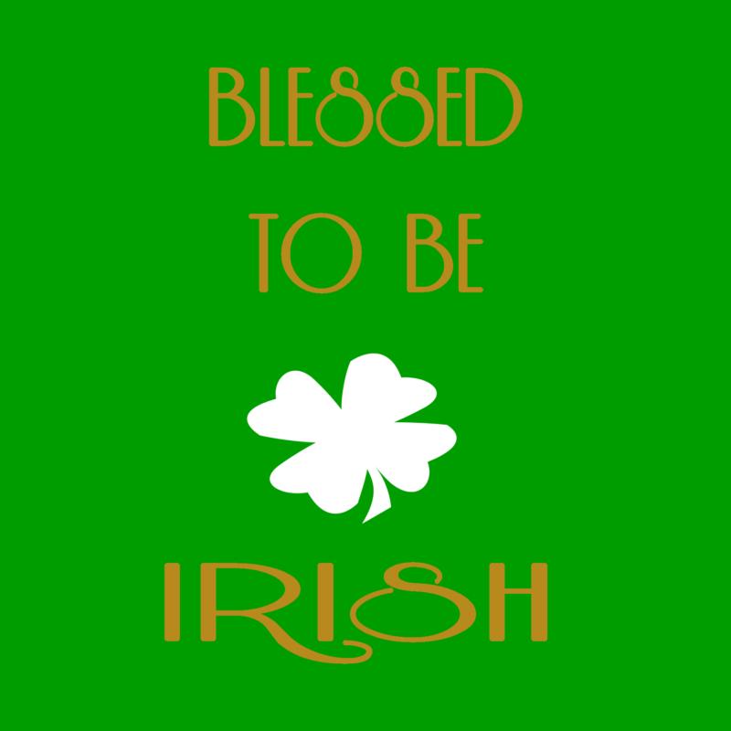 BLESSED TO BE IRISH WALL ART--FREE WINTERANDSPARROW.COM