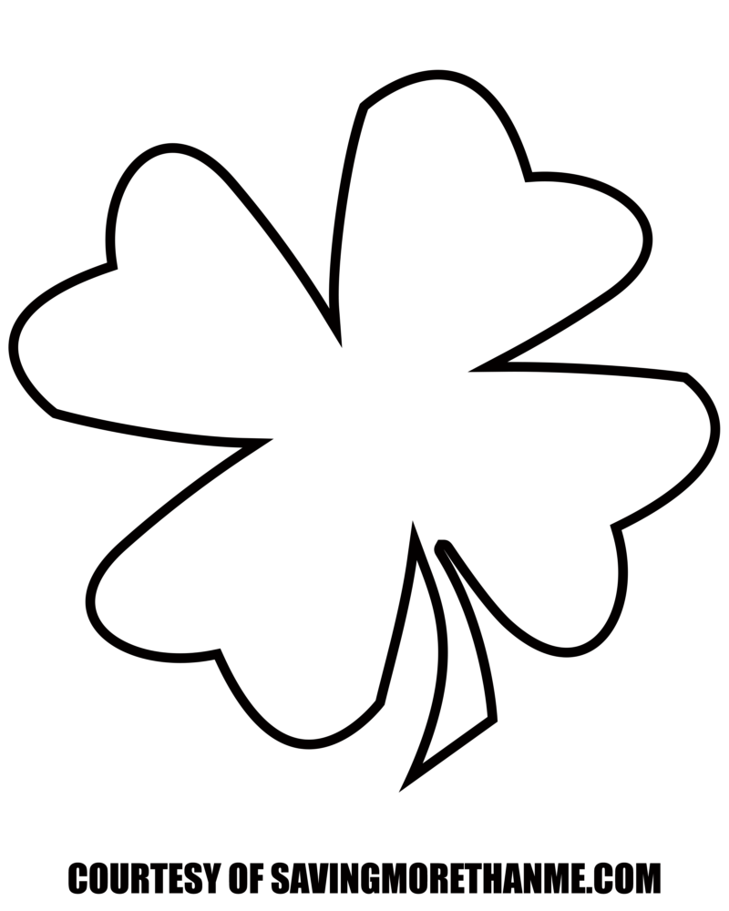 free st patricks day printables coloring pages clover templates etc