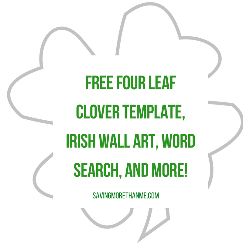 Free St Patricks Day Printables Coloring Pages Clover