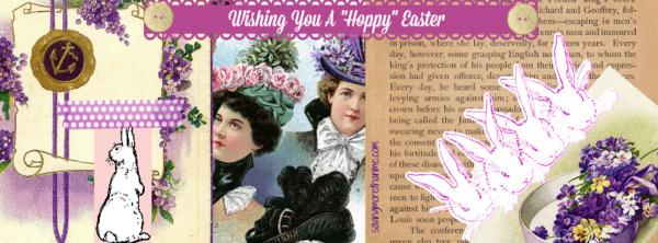 Wishing You A Hoppy Easter--Free Facebook Cover--savingmorethanme.com