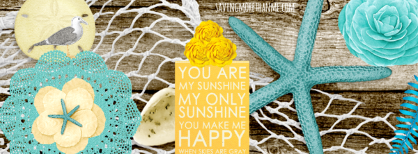 Turquoise Sunshine Facebook Cover {Free} savingmorethanme.com