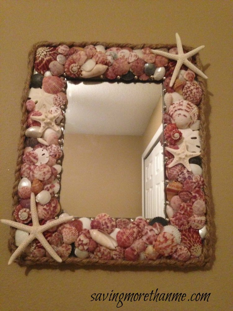 DIY Nautical Seashell Mirror