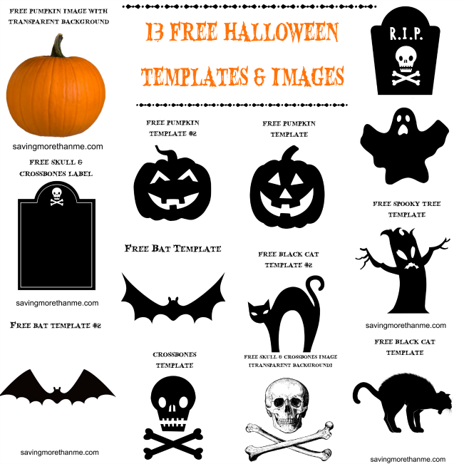 13 free halloween templates and images plus vintage party invite
