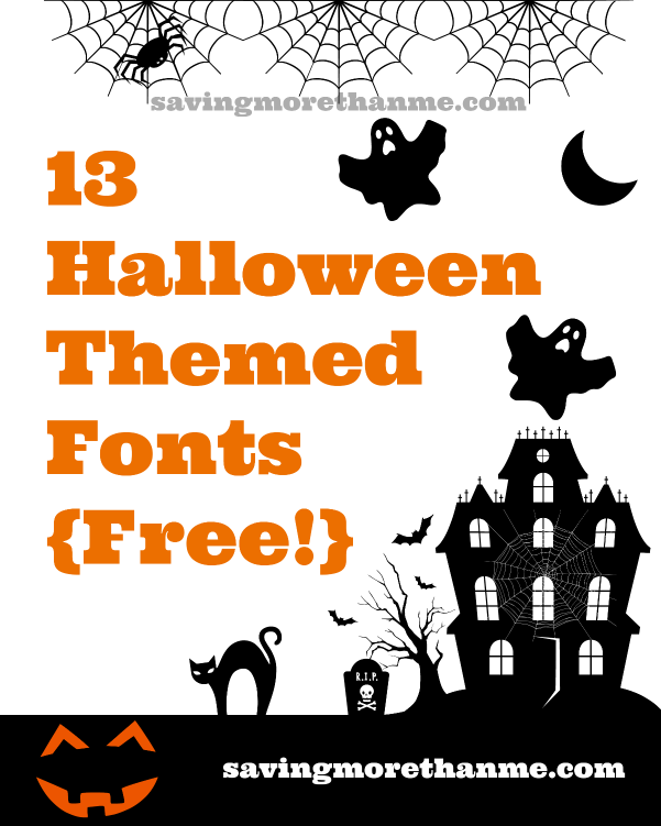 13 Free Halloween Fonts #halloween • Winter and Sparrow
