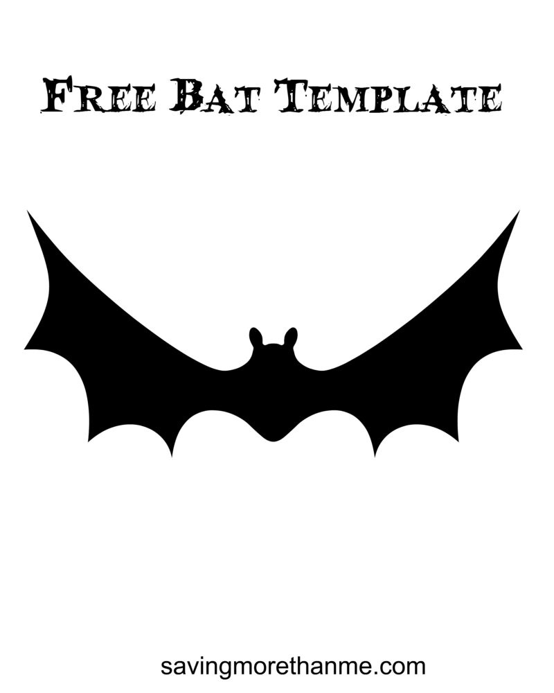 Free bat template savingmorethanme.com