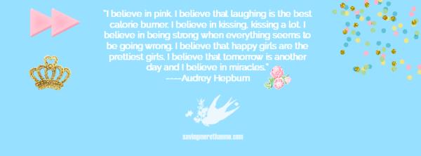 Three Romantic Facebook Covers {Free}: Audrey Hepburn, The Notebook, and Home Sweet Home savingmorethanme.com