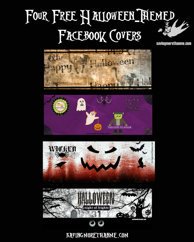 Halloween: Four Free Facebook Covers + Four Vintage & Spooky Songs #halloween savingmorethanme.com