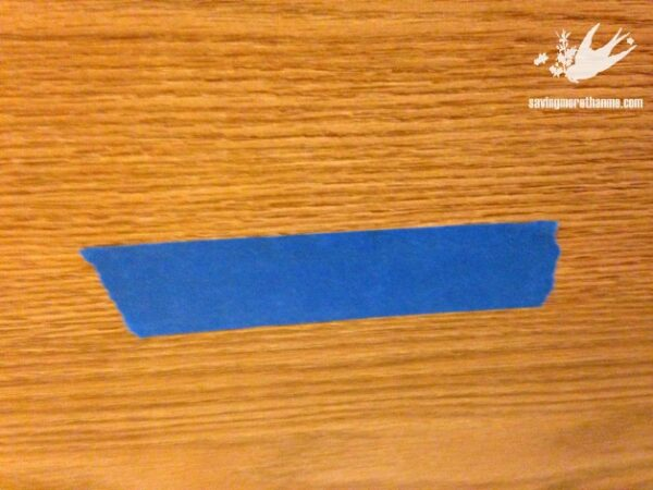 From Boring Brown To Beautiful Blue: A File Cabinet Gets A Makeover with Chalk Paint #diy savingmorethanme.com