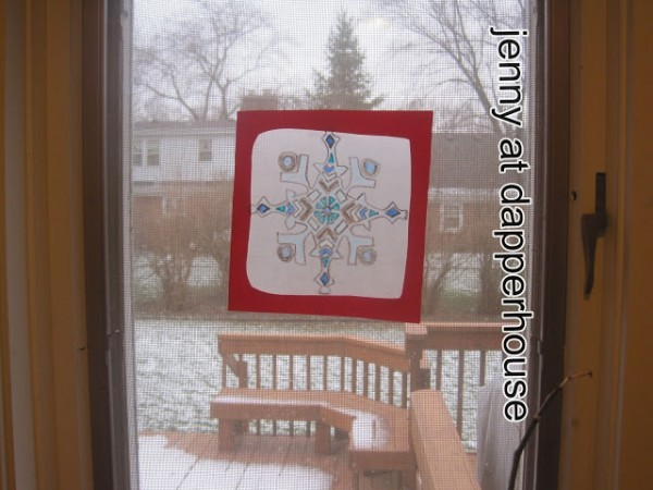 DIY Stained Snowflake Winter Crafts