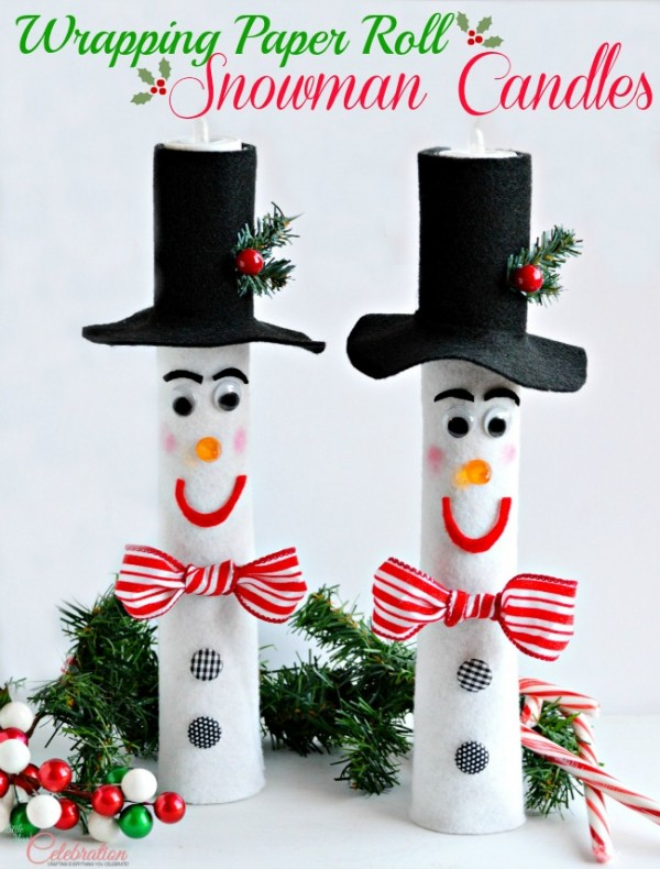 paper roll snowman craft wrapping paper roll snowman candles 5131
