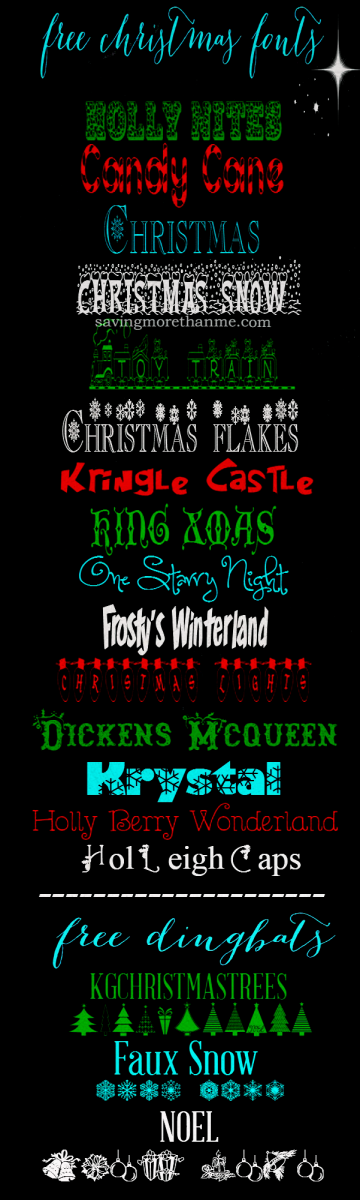 15 Free Christmas Fonts + How To Install Fonts On A Windows PC  savingmorethanme.com