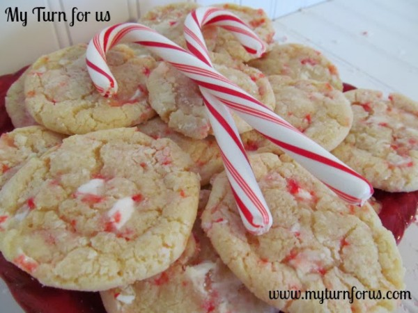 Candy Cane Chewy Cookies