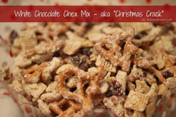 White Chocolate Chex Mix AKA Christmas Crack