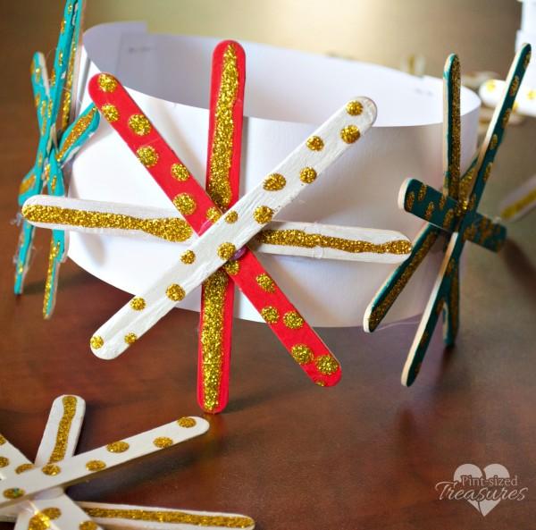 popsicle snowflake crown