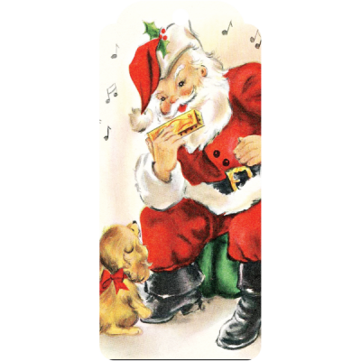 vintage-dog-and-santa-Free Christmas Tags,Ornaments,Frames,Backgrounds, and Printables #christmas savingmorethanme.com