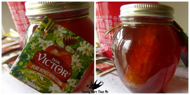 honeycomb honey don victor Make A Winter Survival Gift Basket With Honey, Tea, and Me #HoneyForHolidays #DonVictor #Ad savingmorethanme.com