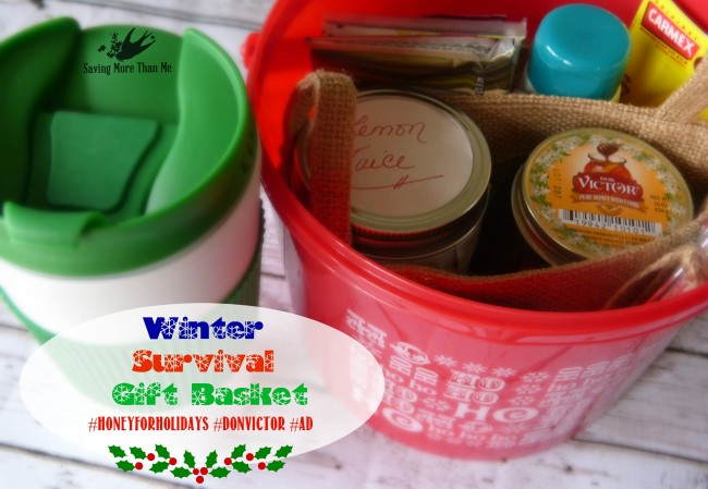 Make A Winter Survival Gift Basket With Honey, Tea, and Me #HoneyForHolidays #DonVictor #Ad savingmorethanme.com