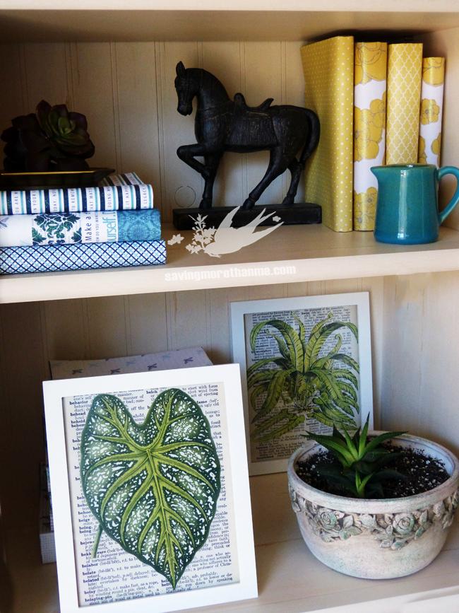 DIY Vintage Botanical Prints {Free Downloads} savingmorethanme.com