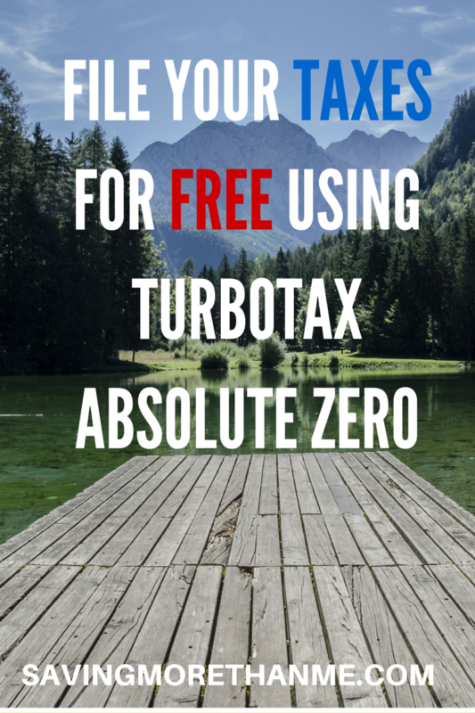 File your taxes for FREE using Turbo Tax File Your Federal and State Income Tax Returns For Free With TurboTax #Absolute0 @turbotax #cg savingmorethanme.com
