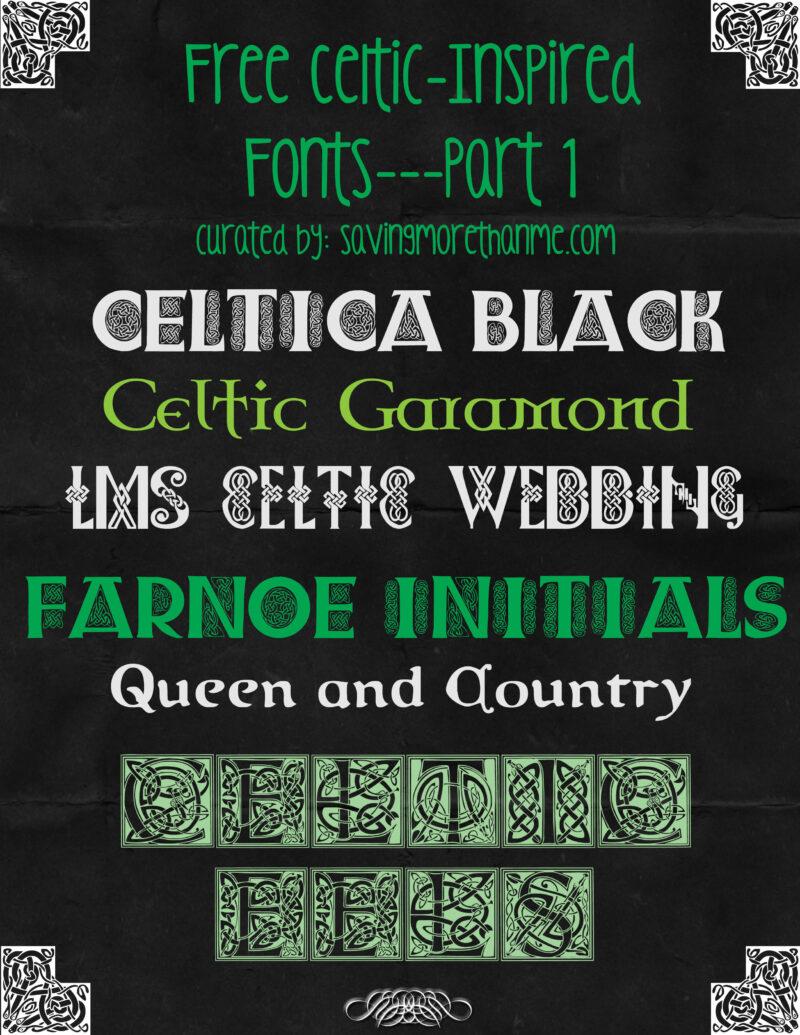 Celtic Design Basics Plus 11 Free Celtic-Inspired Fonts savingmorethanme.com #celtic #irish