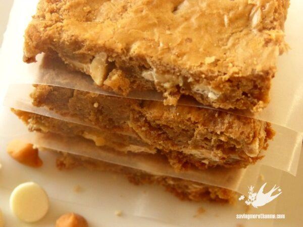 White Chocolate and Butterscotch Blondies savingmorethanme.com
