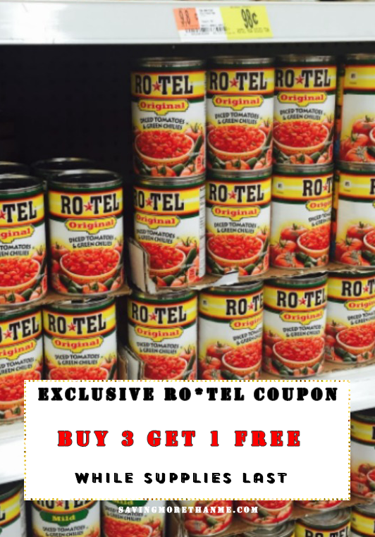 RO*TEL Lovers Unite: Exclusive Buy 3|Get 1 FREE Coupon {While Supplies Last} #JustAddRotel #Ad